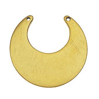 Nunn Design Flat Tag Hänge Länk, Blank Circle Eclipse 30mm, 1 Stycke, Antikt Guld pläterat