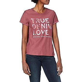 MUSTANG Alina C Photo T-Shirt, Dark Red, S Woman
