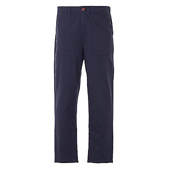 Farah Hawtin Twill Relaxed Fit Trousers - True Navy