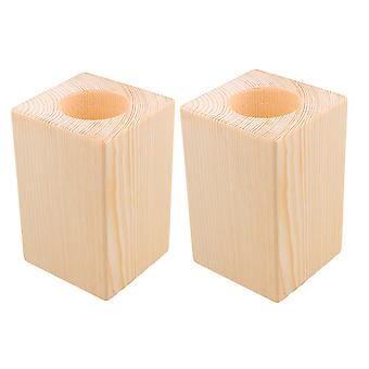 2 x Wooden Furniture Storage Riser Bed Lifters Lift Height 10x5cm