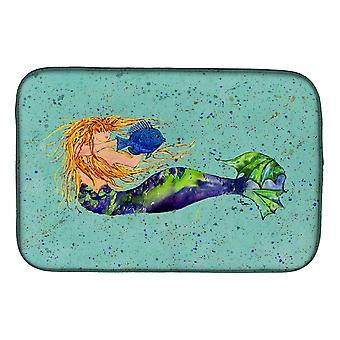 Caroline'S Treasures Mermaid Dish Drying Mat, 14 X 21, Multicolor