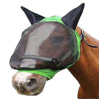 Máscara de mosca de caballo cubierta de oído malla de armadura de cara completa