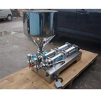 Machine de remplissage de pâte alimentaire, double buse, grande trémie, emballage quantitatif