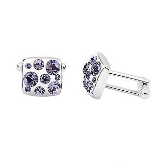 1000se Com Swarovski Elements Austríaco Crystal Cufflinks Men's Cufflinks Jewely