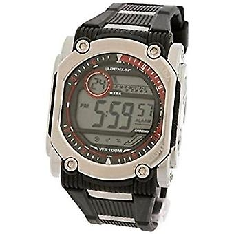 Dunlop watch dun-78-g07 black band with red