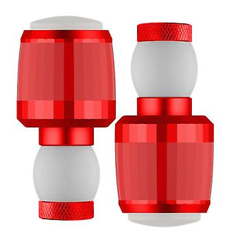 Punainen polkupyörän ohjaustangon pistoke kääntyvän signaalin kanssa, vedenpitävä ohjaustangon pistoke led-varoitusvalolla az9170
