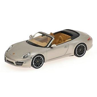 Minichamps 410060231 Porsche 911 Carrera Cabriolet 2012 Silver 1:43 Scale