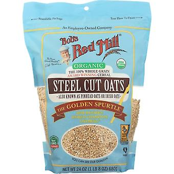 Bobs Red Mill Oats Steel Ct Org, Case of 4 X 24 Oz