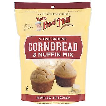 Bobs Red Mill Mix Cornmeal Muffin, Fodral på 4 X 24 Oz
