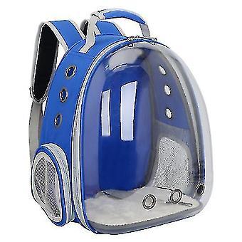 Cat Carrier Backpack,Space Capsule Knapsack Pet Travel Bag Waterproof Breathable(Dark Blue)