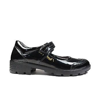 Ricosta Belana 7221700-095 Black Patent Leather Girls Brogue Mary Jane School Shoes
