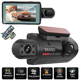 Dual-Objektiv-Auto Dvr Dash Cam Video Recorder versteckte Fahrrekorder Front und Innenkamera