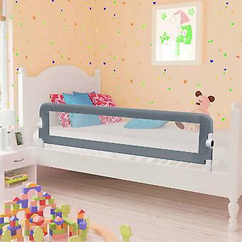 vidaXL Кровать для малышей Охрана Серый 150x42 см Полиэстер