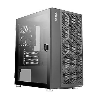 Antec NX200M Mini Tower Gaming Case con ventana de vidrio, Micro ATX, mesh front, 1 ventilador, soporte de radiador de 240 mm
