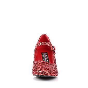 Funtasma Ropa y Accesorios > Disfraces y Accesorios > Zapatos de Vestuario > Mujer COLEGIALA-50G Rojo Gltr