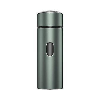 المحمولة الرجال آلة الحلاقة الكهربائية، USB قابلة لإعادة الشحن اللحية تريمر(رمادي)