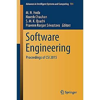 هندسة البرمجيات - وقائع CSI 2015 من قبل M. N. Hoda - 9789811