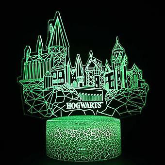 Harry Potter 3d Touch Lamp Kids Night Lights 7 Colors With Remote Control