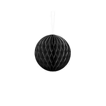 10cm Black Tissue Paper Honeycomb Ball Wedding Party Decoration