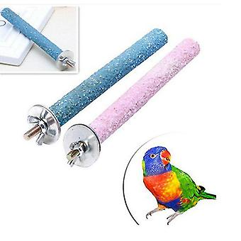 Bird Claw Bec Me broyage Bar Standing Stick Parrot Station Pole Fournitures d'oiseaux