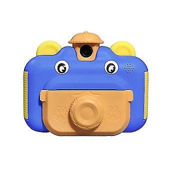 كاميرا طباعة كاميرا الأطفال 1080P HD كاميرا فيديو (الأزرق)