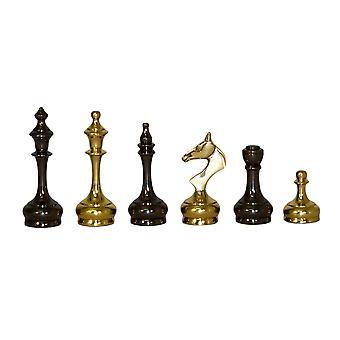 Solid Brass slanke stijl mannen schaakstukken