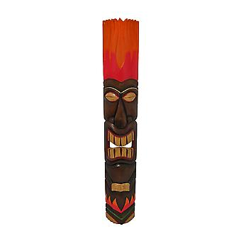 Decorazione della parete di colore rosso/arancione Tiki Totem