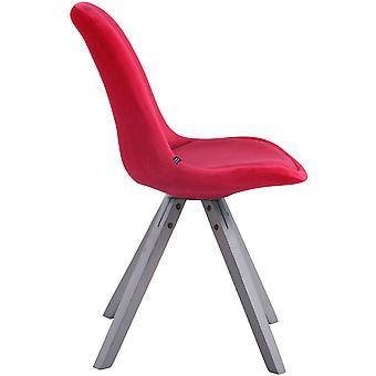 Chaise de salle à manger - Chaises de salle à manger - Chaise de cuisine - Chaise de salle à manger - Moderne - Rouge - Bois - 48 cm x 56 cm x 84 cm