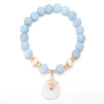 Armbanden natuurlijke kristal elastische armband paar kralen sieraden