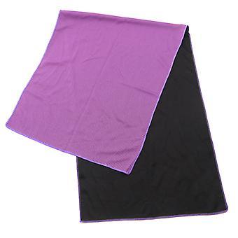 Toalha de resfriamento, toalhas frias Microfiber Chilly Head Band Bandana Neck Wrap Purple