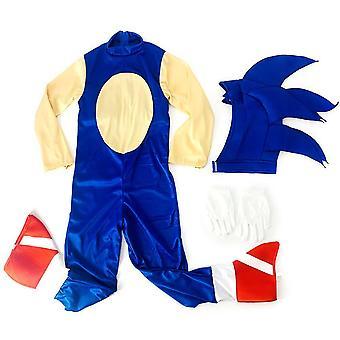 Sündisznó Sonic Jumpsuit Cosplay Jelmez Fancy Dress Outfit Ruhák