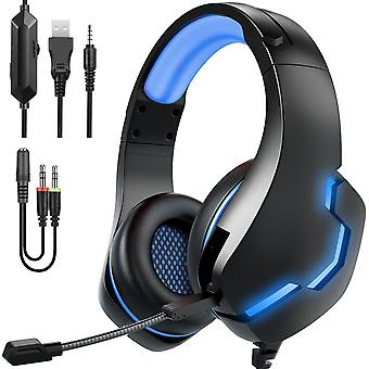 Head-mounted Wired Headset Wire-controlled Luminous Gaming Headset