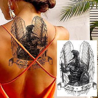 Big Black Tiger Tattoos Faux Hommes Loup Léopard Tatoos Imperméable à l'eau Grande Bête Monstre Corps Bras Jambes Tatouages Couverture en papier temporaire