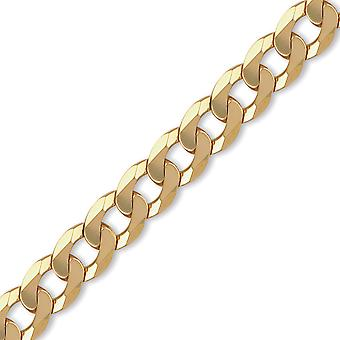 Jewelco London Men's Solid 9ct Yellow Gold Traditional Heavy Weight Curb Link 14mm Gauge Chain Necklace