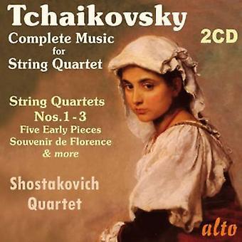 Shostakovich Quartet - Tchaikovsky: Complete Music for String Quartet [CD] USA import