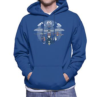 Flight Of The Imagination Studio Ghibli Men's Hooded Sweatshirt
