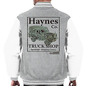 Haynes Brand Truck Shop Sparkford Land Rover Men's Varsity Jacket