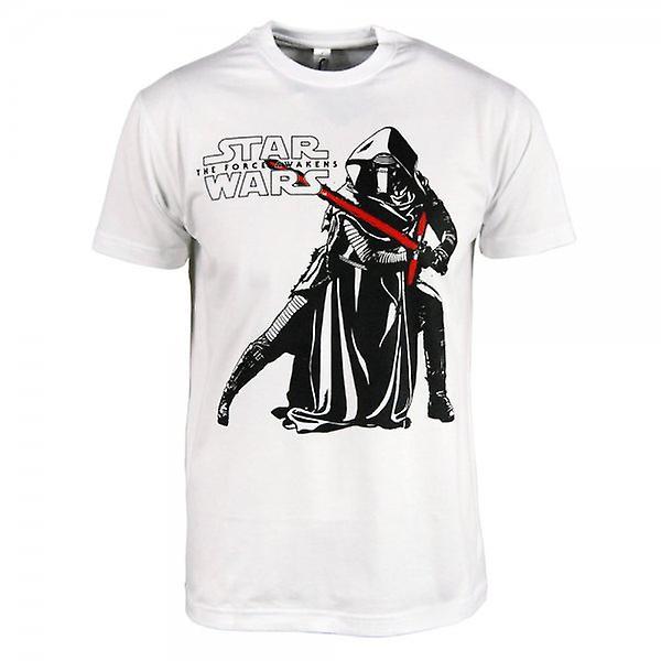 Star Wars Mens Star Wars: The Force se réveille Kylo Ren T Shirt blanc