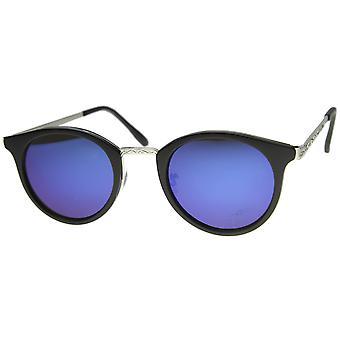 Cuerno de montura de gafas de sol con lentes espejados UV400 protegidas