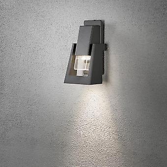 Konstsmide ポテンザ グレー オイル ランタン スタイル ガーデン壁ライト