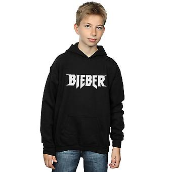 Justin Bieber Boys Simple Logo Hoodie