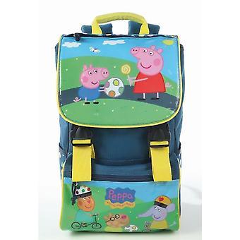 Peppa Pig Backpack Blue Jain Elementary School