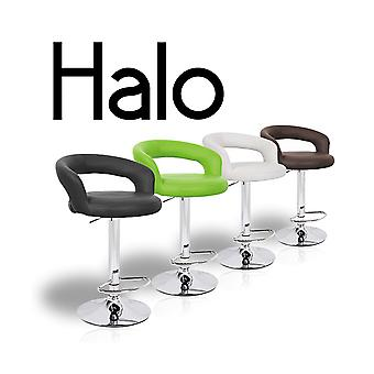 "Halo ""Leather"" Contemporary Adjustable Barstool"