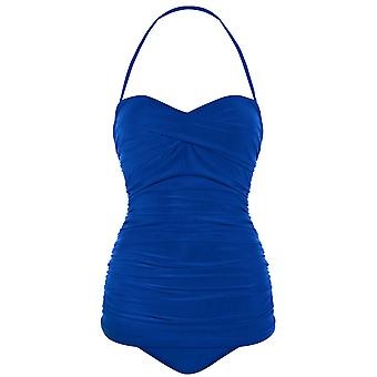 Seaspray 33-2063 Women's Just Colour Sapphire Blue Shaping Swimsuit