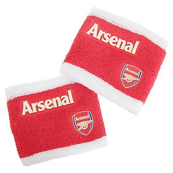 Arsenal FC Official 2 Tone Athletic Football Crest Sport Wristbands (Pack Of 2)