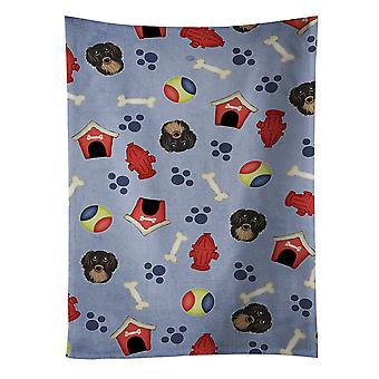 Собака дом коллекции черно-подпалый длинношерстная такса кухонное полотенце
