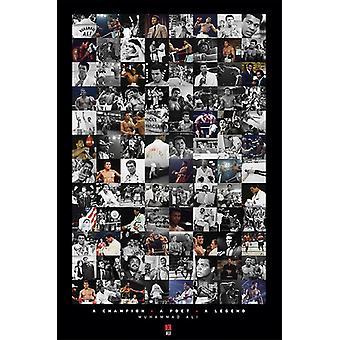 Muhammad Ali - montaje cartel Poster Print