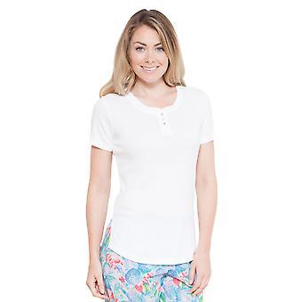 Cyberjammies 3680 Celia White einfarbig Pyjama Pyjama Tank Top Frauen