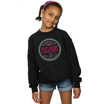 AC/DC Girls Circle Neon Sweatshirt