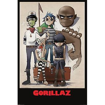 Gorillaz - Portrait de famille Poster Print (24 x 36)